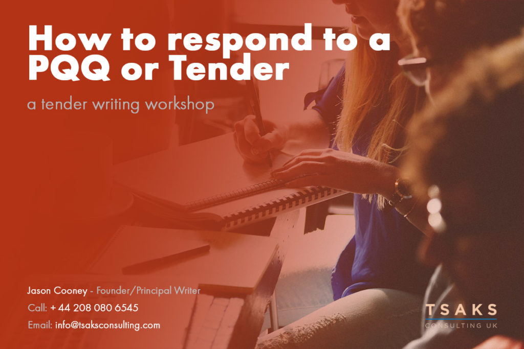 How to respond to a PQQ or Tender, a Tender writing workshop
