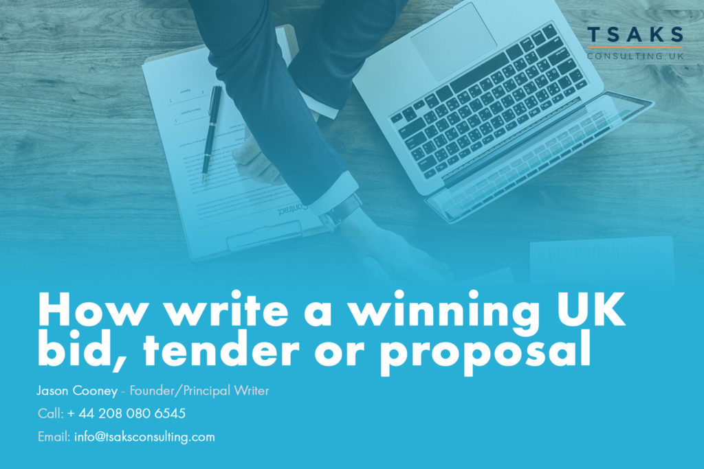How to write a winning UK government bid, tender or proposal